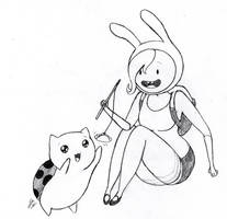 Fionna and Catbug by Mad-Hattress-Ari