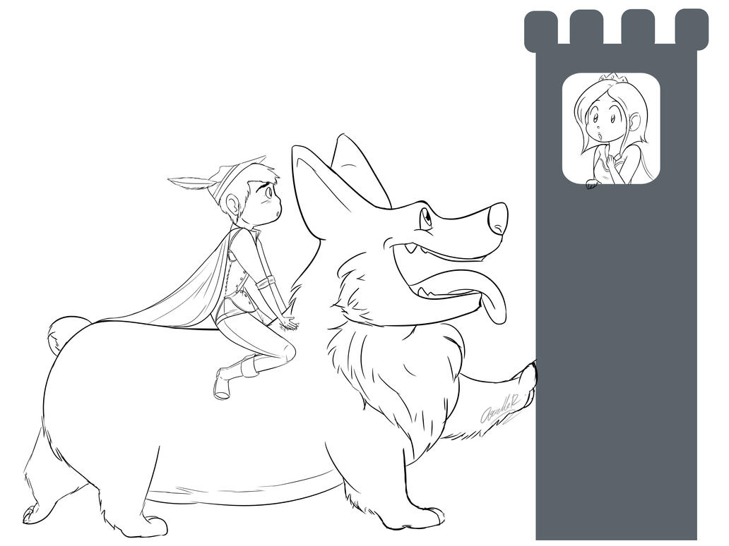 Sir Andrew and the Corgi: WIP by Mad-Hattress-Ari