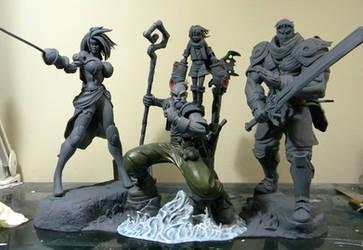 Battle Chasers WIP by seankylestudios