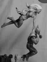 Wolverine and Ms. Marvel WIP 2 by seankylestudios