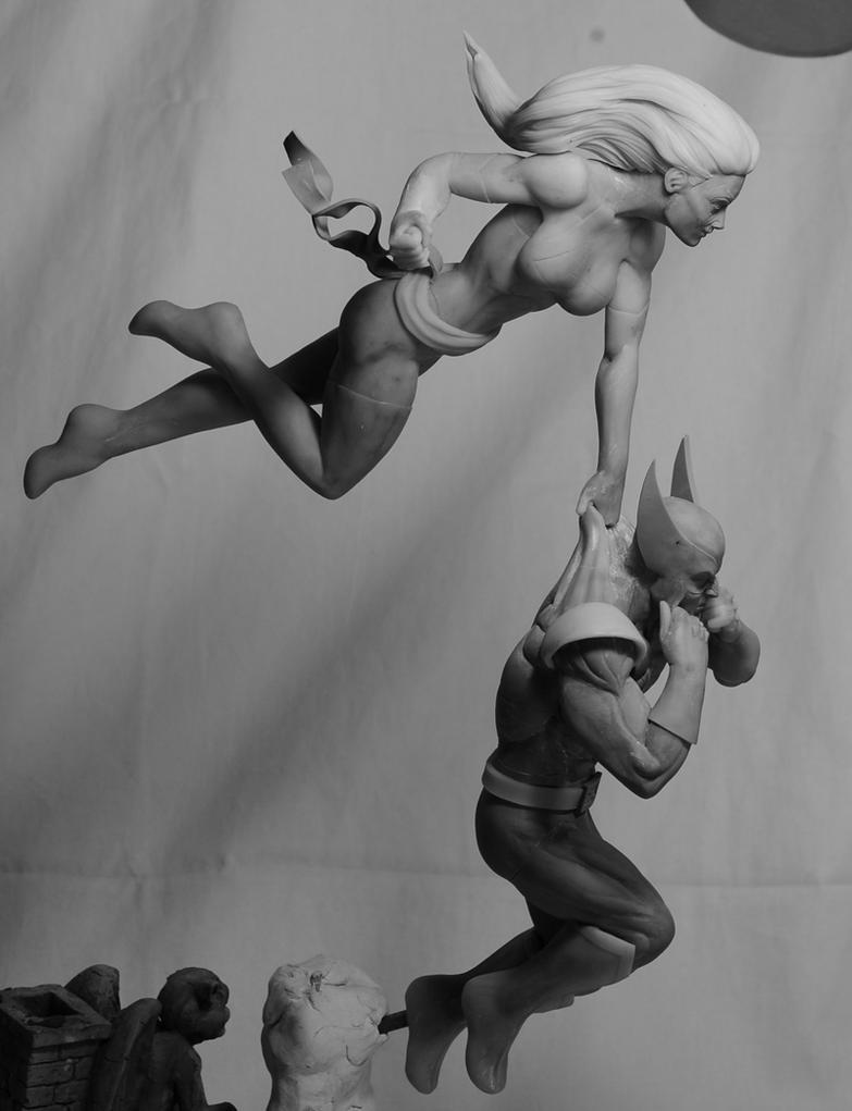 Wolverine and Ms. Marvel WIP 2 by SKBstudios