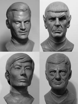 Star Trek TOS 1/2 scale busts