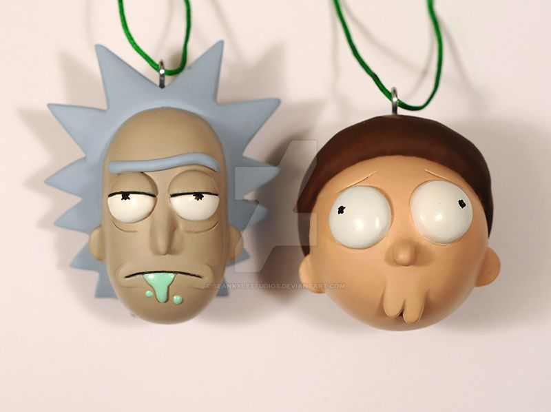 Rick and Morty ornaments by seankylestudios