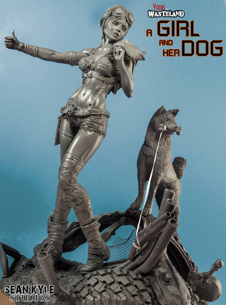 Vixens of the Wasteland:  A Girl and her Dog by seankylestudios