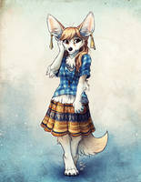Modest Fennec by TasDraws