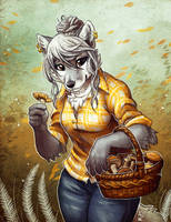 Foraging Foxie by TasDraws