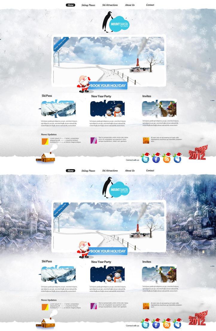 Winter Ski Centre Web Design by vasiligfx