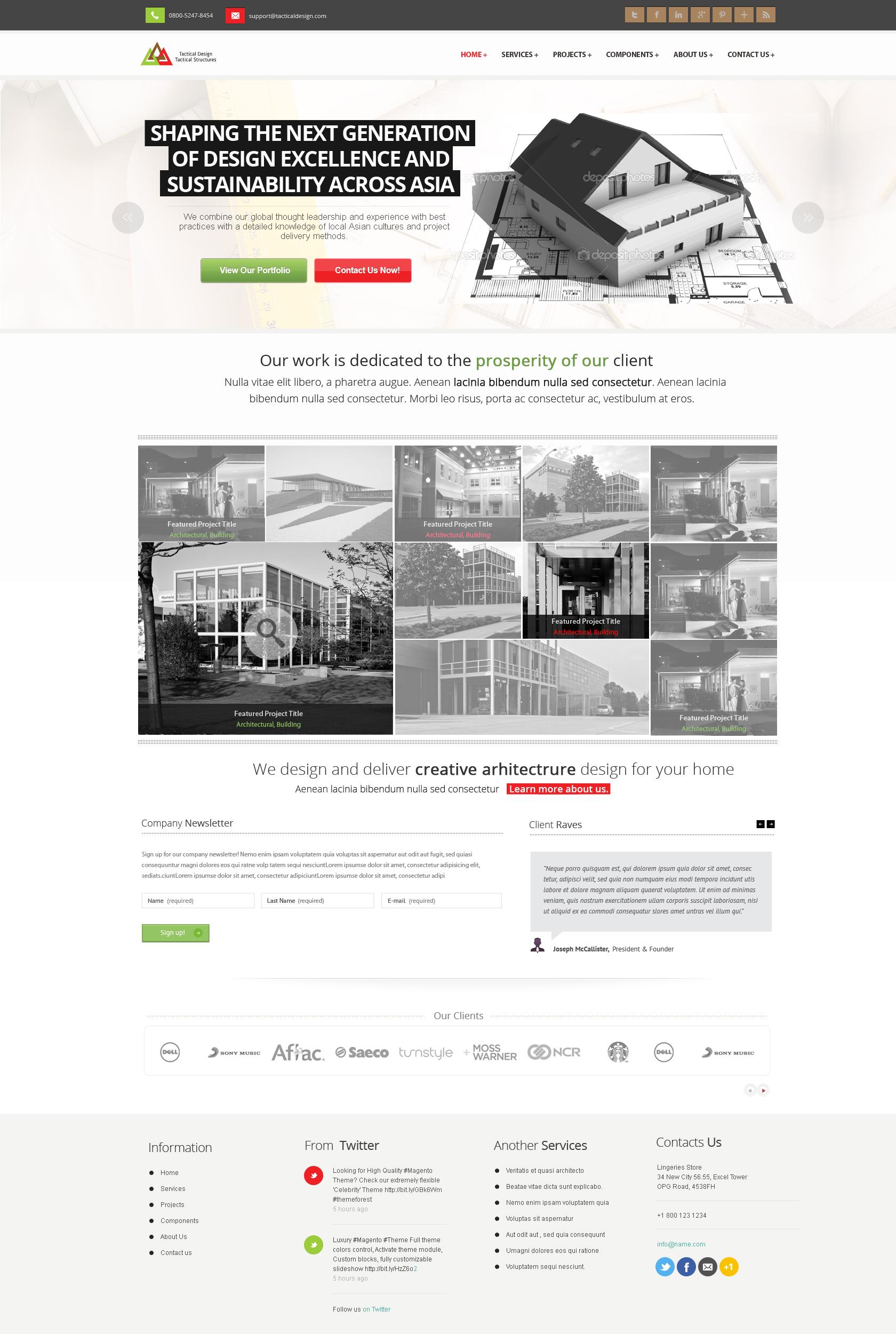Architectural Company Web Design by vasiligfx