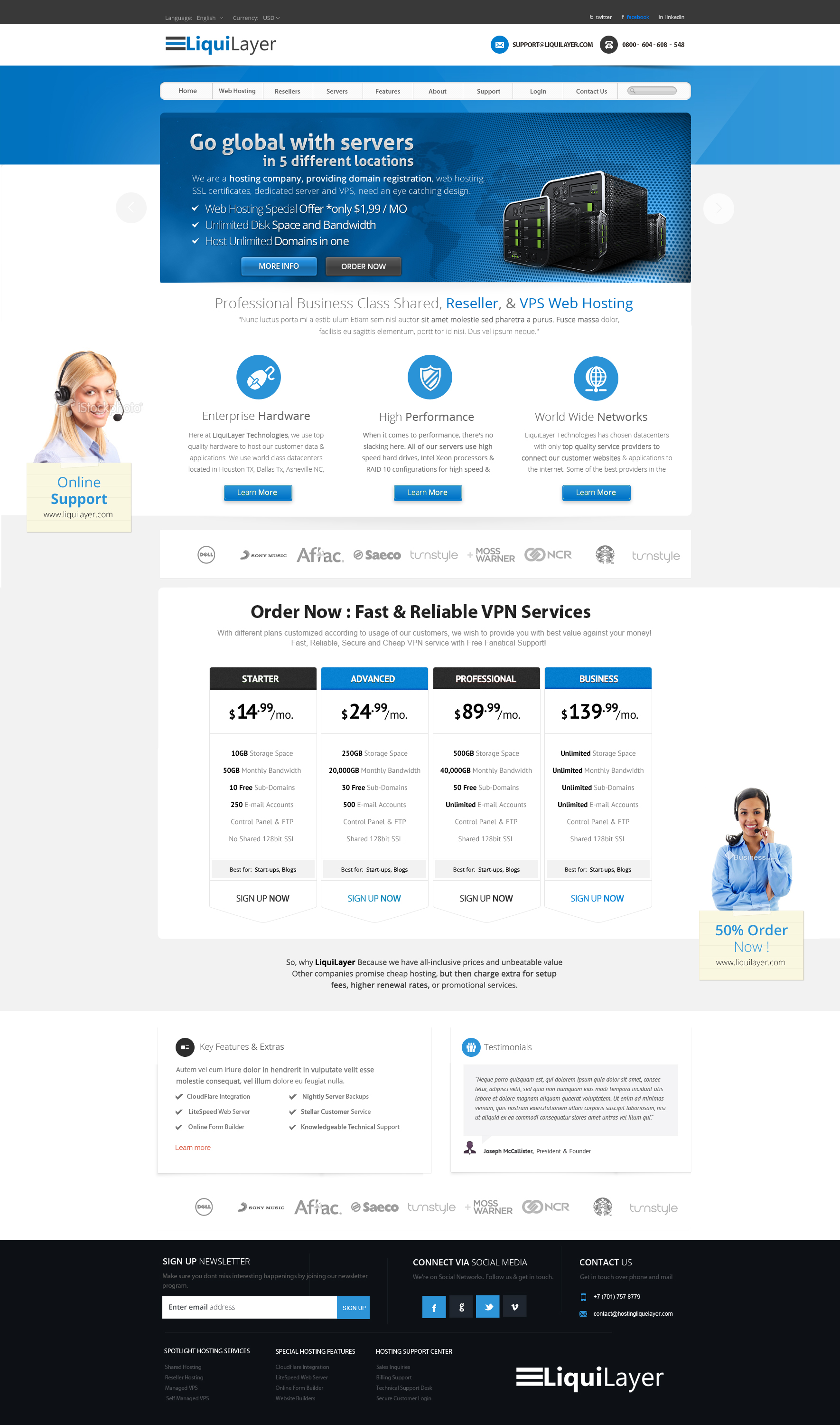 Hosting Web Design by vasiligfx