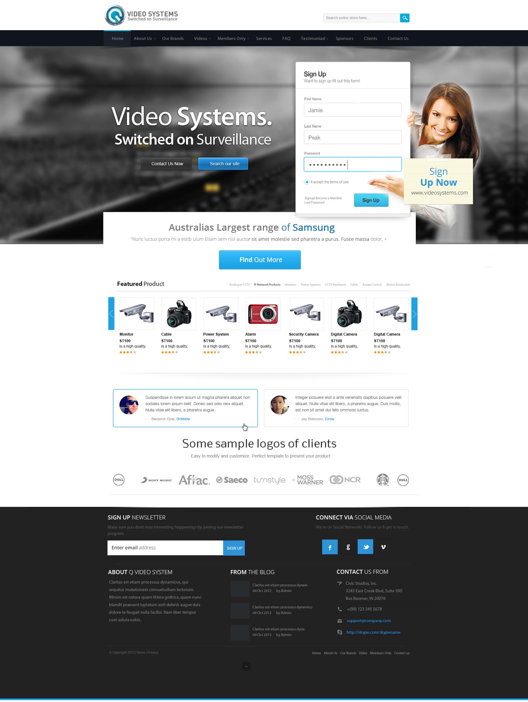 Video System Web Design by vasiligfx