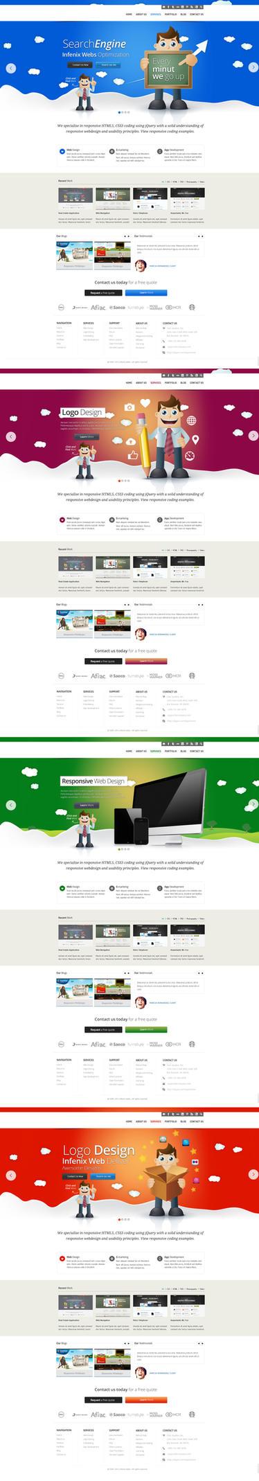 Seo + Marketing Company Web Design by vasiligfx