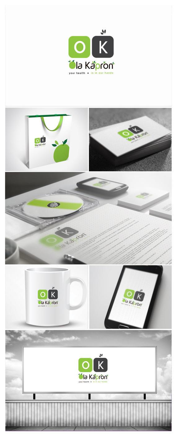 Ola Kapron Logo Design by vasiligfx
