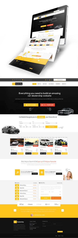 Car Dealership Web Design SOLD by vasiligfx