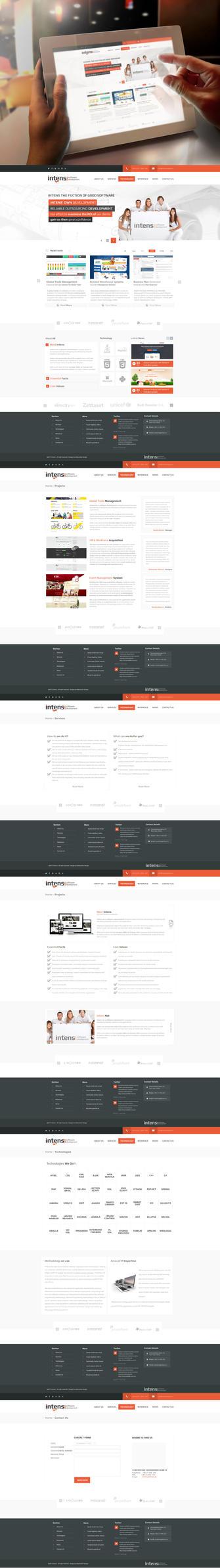 Software Company Web Design by vasiligfx
