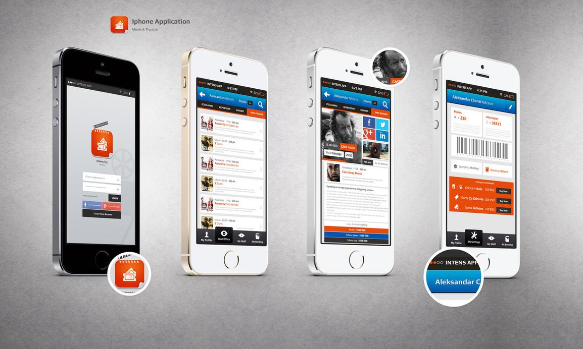 Movie | Theatre App Design by vasiligfx