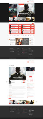 Online Gaming Store Web Design