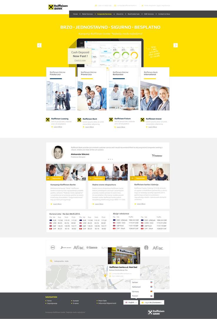Raiffeisen Bank Serbia Concept Web Design by vasiligfx