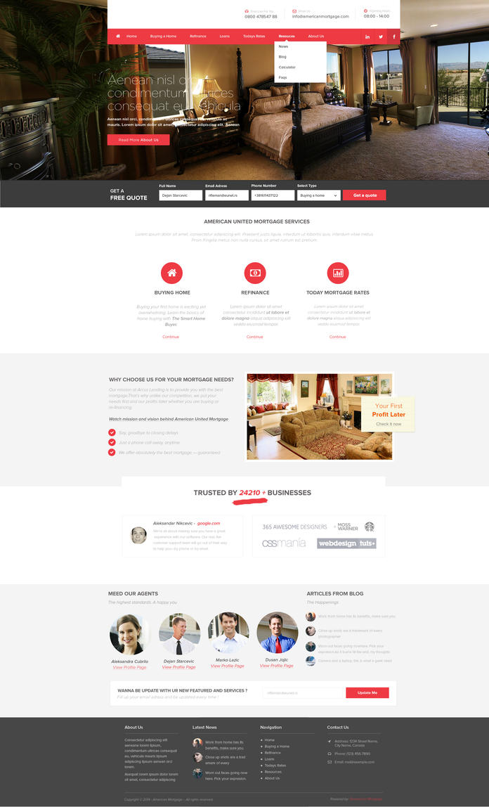 Mortgage Company Web Design by vasiligfx