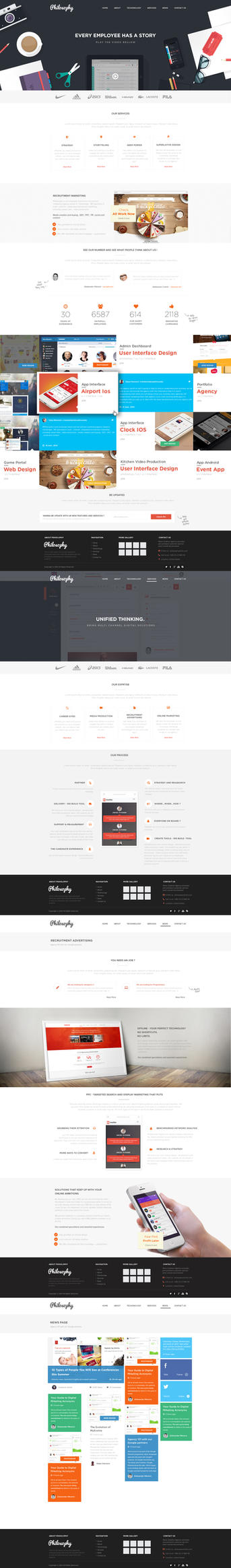 Branding Agency Web Design by vasiligfx