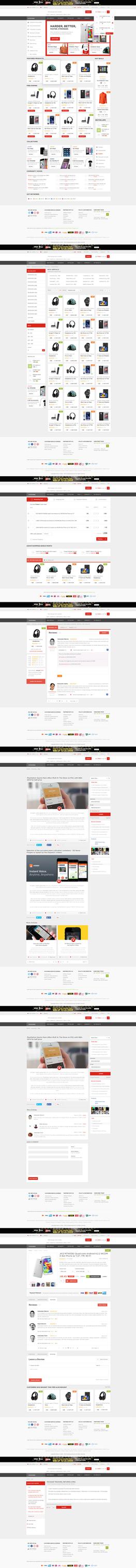 Ecommerce Shop Web Design For Sale by vasiligfx