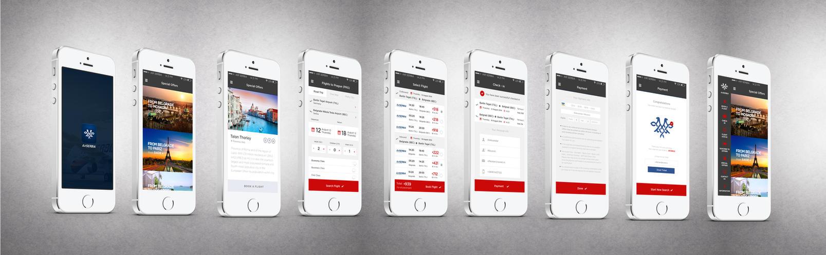Air Serbia Flight Search App by vasiligfx