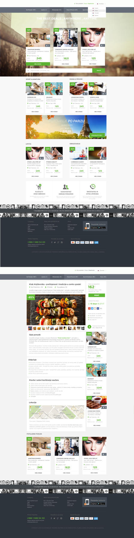 KlubPlus Coupon Web Design by vasiligfx