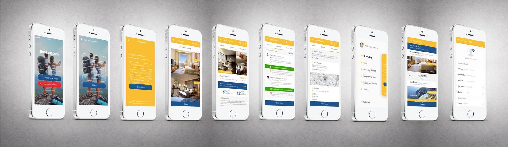 Booking.com Concept App Design by vasiligfx