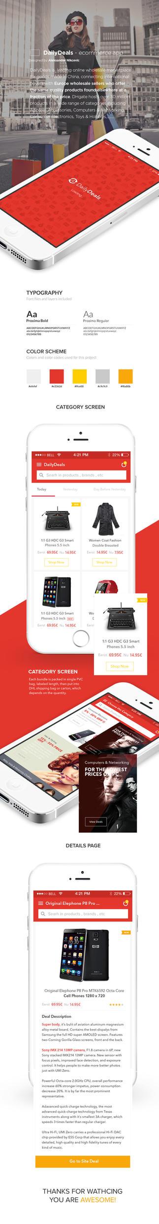 DailyDeals Ecommerce App Design by vasiligfx