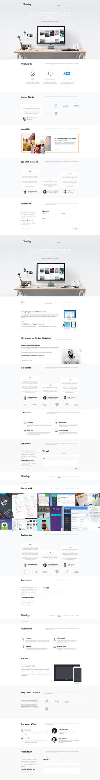 Development Agency Web Design by vasiligfx