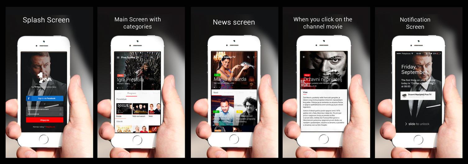 Prva Srpska Tv : TV Vodic App Design Concept by vasiligfx