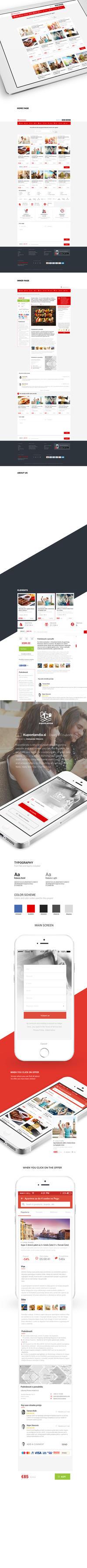 Kuponlandia.com Web - App Design by vasiligfx