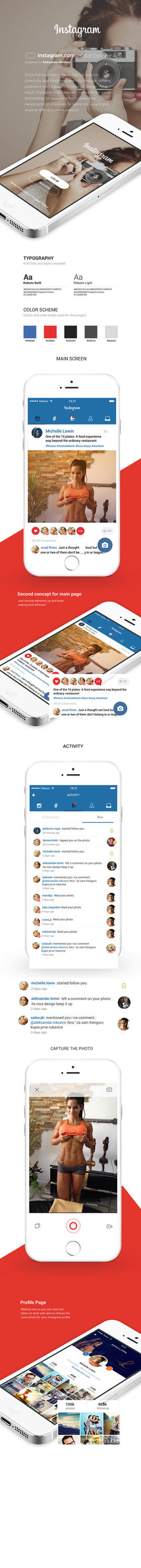Instagram IOS 8 Concept App Design by vasiligfx