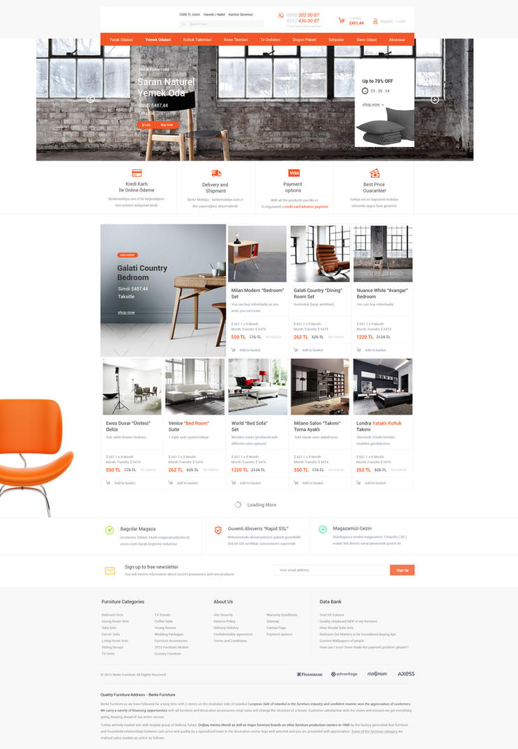 furniture ecommerce web design for sale by vasiligfx on