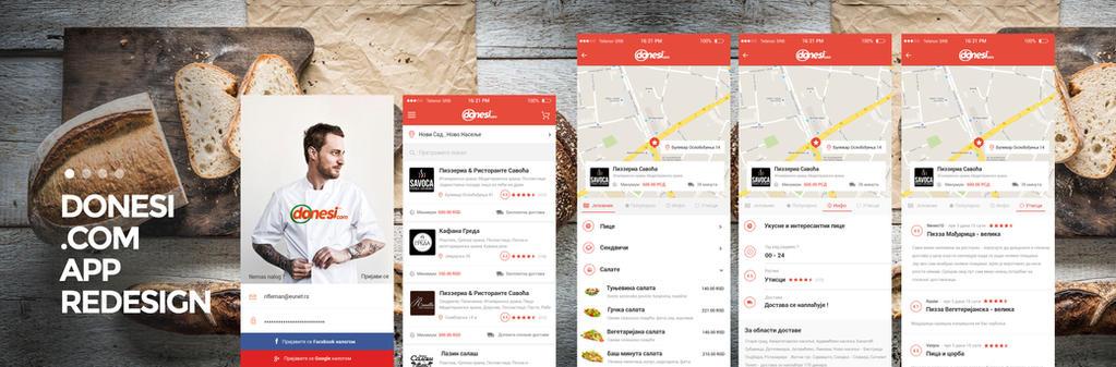 Donesi.com IOS Redesign Concept App by vasiligfx