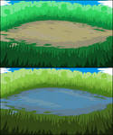 Grassy Battle Backgrounds