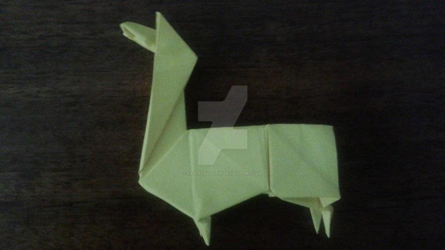 Origami Llama By Fejesvalentin On Deviantart
