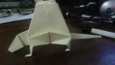 Origami Dimetrodon by FejesValentin