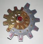 Steam Punk Cogwheel Brooch