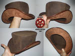 Steam Punk Leather Tophat 02