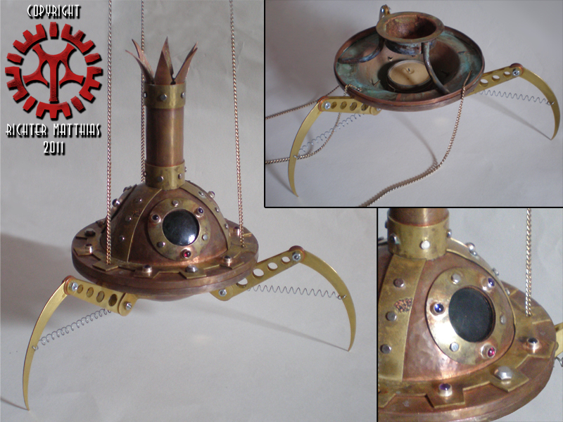 Steam Punk Incense Burner 06 by Steam-HeART