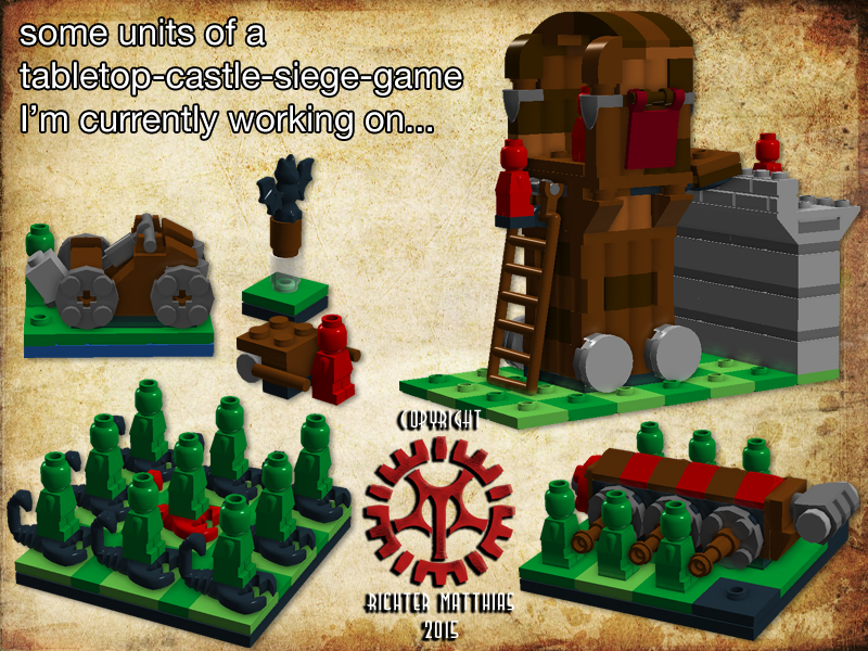 Lego Tabletop Castle Siege Game 01 By Steam Heart On Deviantart
