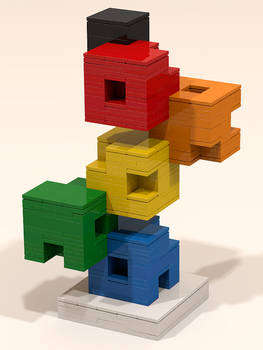 LEGO cube sculpture 01
