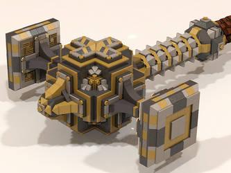 LEGO Dwarven Hammer 003 by Steam-HeART