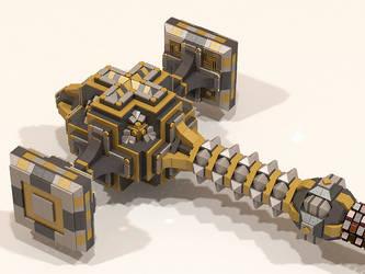 LEGO Dwarven Hammer 004 by Steam-HeART