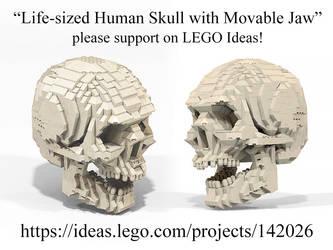 LEGO Ideas human skull by Steam-HeART
