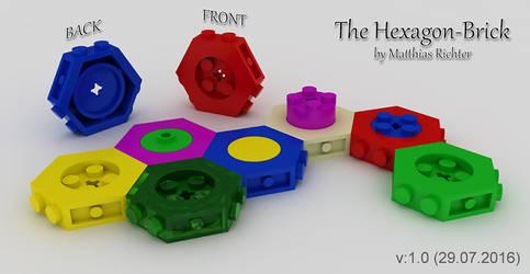 Hexagonal Building Brick 01 by Steam-HeART
