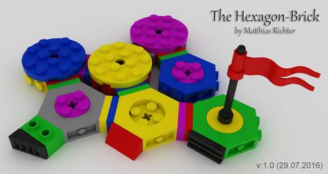 Hexagonal Building Brick 02 by Steam-HeART