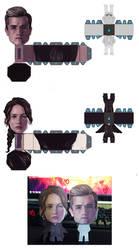 HG : Papertoy katniss and Peeta