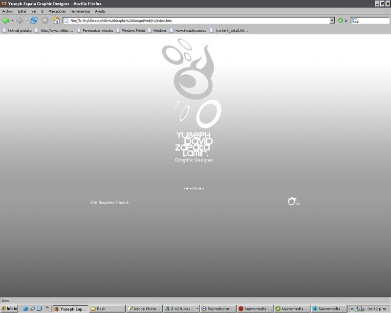 Intro Web Site by U-fo