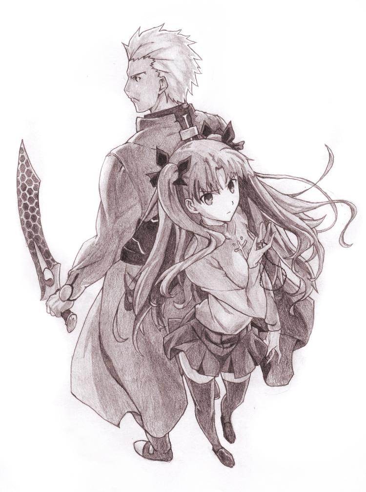 tohsaka_rin_and_archer__fate_stay_night_
